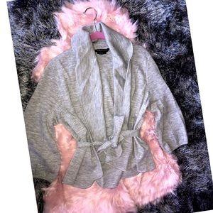 NWOT BCBG MAXAZRIA Tie Wool Cardigan L